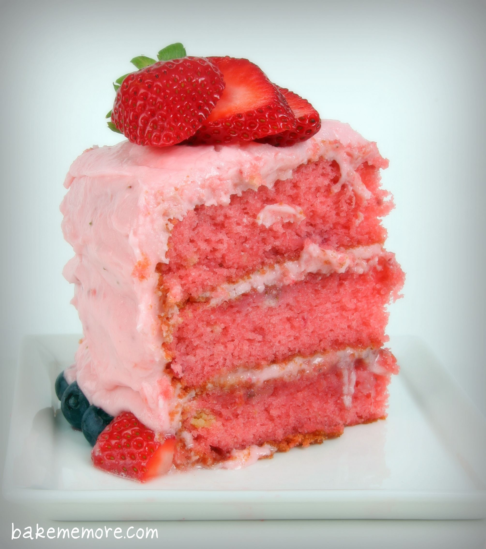 Layer Strawberry Cake From Scratch